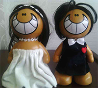فروش عمده عروسک عروس و داماد برای هدیه تولد
