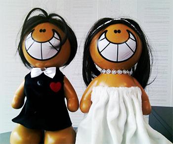عمده فروشی عروسک عروس و داماد
